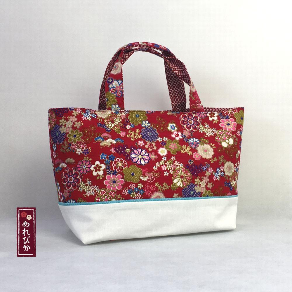 952eba6719d9 Women Bags Tote Bag Japanese style Kimono fabrics Handbag Red gold ...